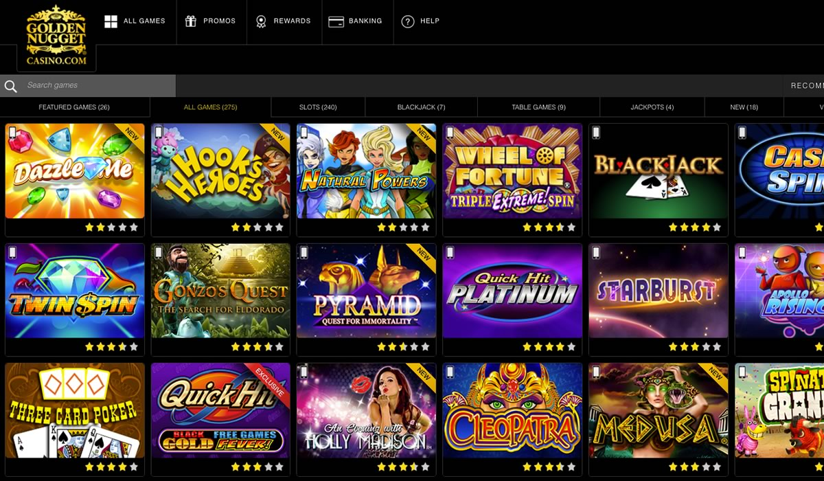 golden nugget online casino book of