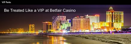 Betfair Casino online NJ VIP program