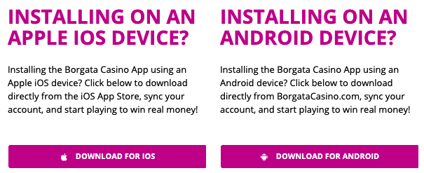 borgata online casino mobile devices